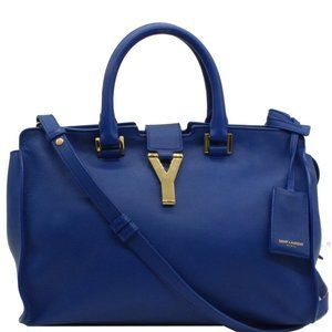 YVES SAINT LAURENT  Cabas Y Small Calfskin Tote